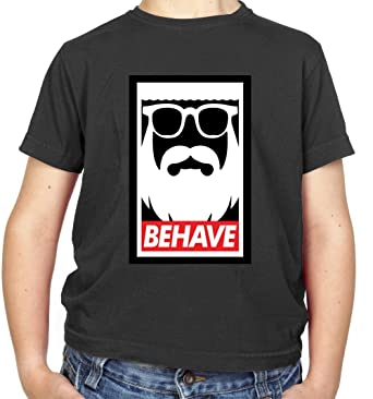 a38470d5d7 Behave-Obey - Childrens   Kids T-Shirt - 3-14 Years  Amazon.co.uk ...