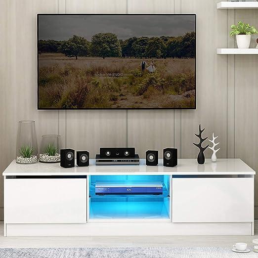 Leisure Zone - Mueble Moderno para televisor (120 cm, con 16 Luces ...