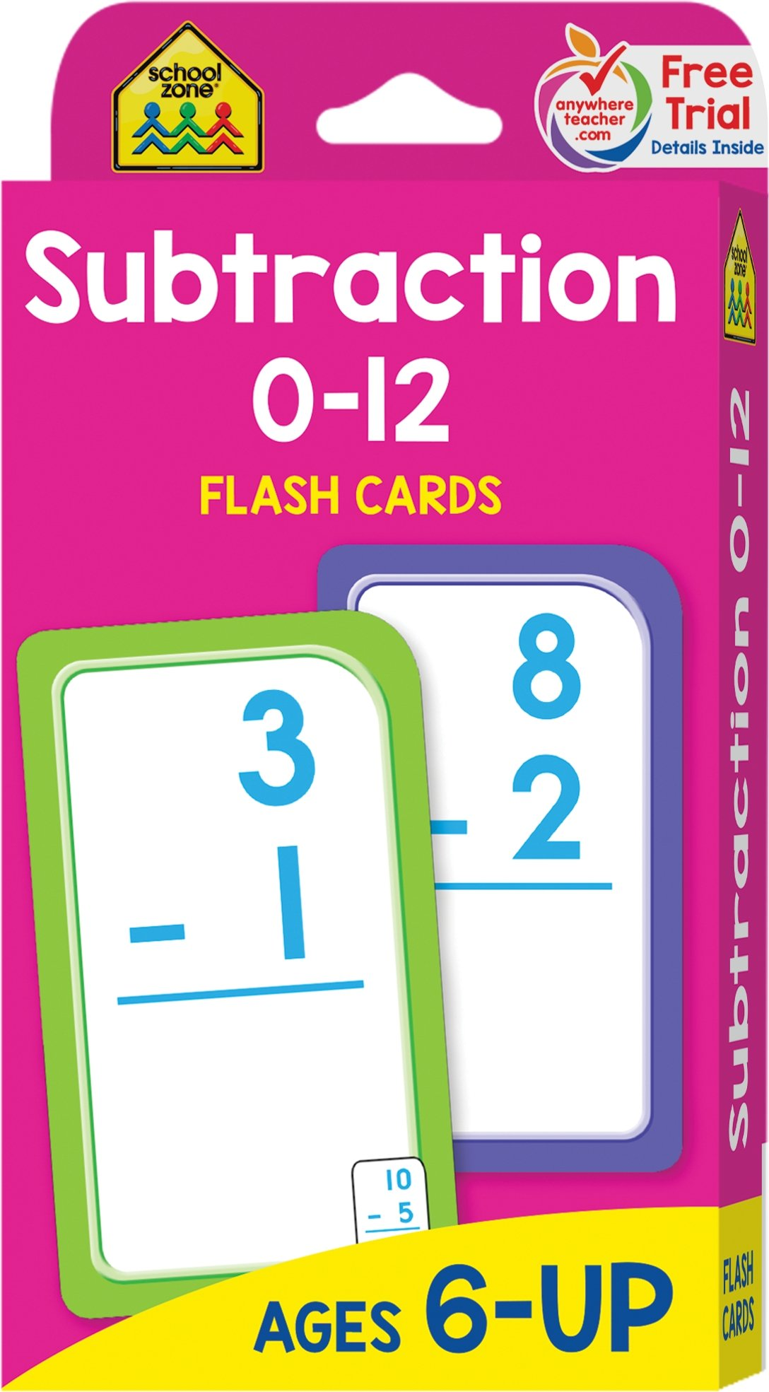 photo about Printable Addition Flash Cards 0-12 named Higher education Zone - Subtraction 0-12 Flash Playing cards - Ages 6 and Up