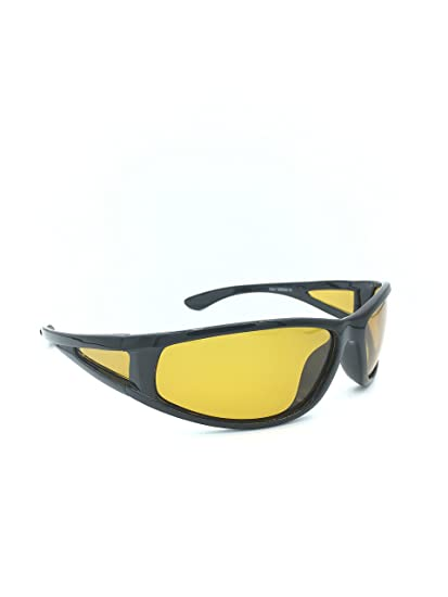 4e403f1ffd GlobalSource Night Driving Yellow Lens Polarized Sport Sunglasses for Men  or Women 100% UVA