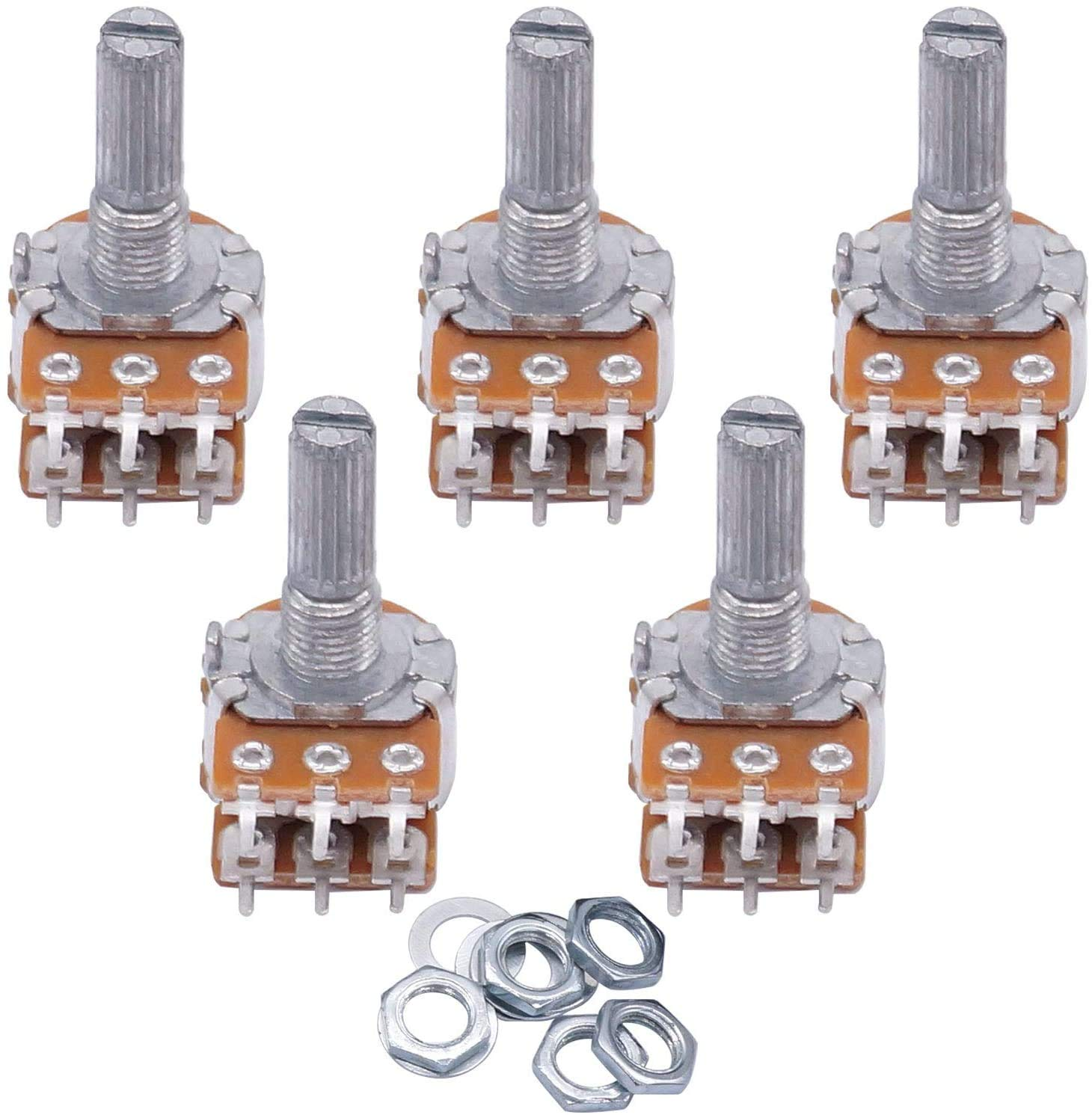 Pins on a potentiometer