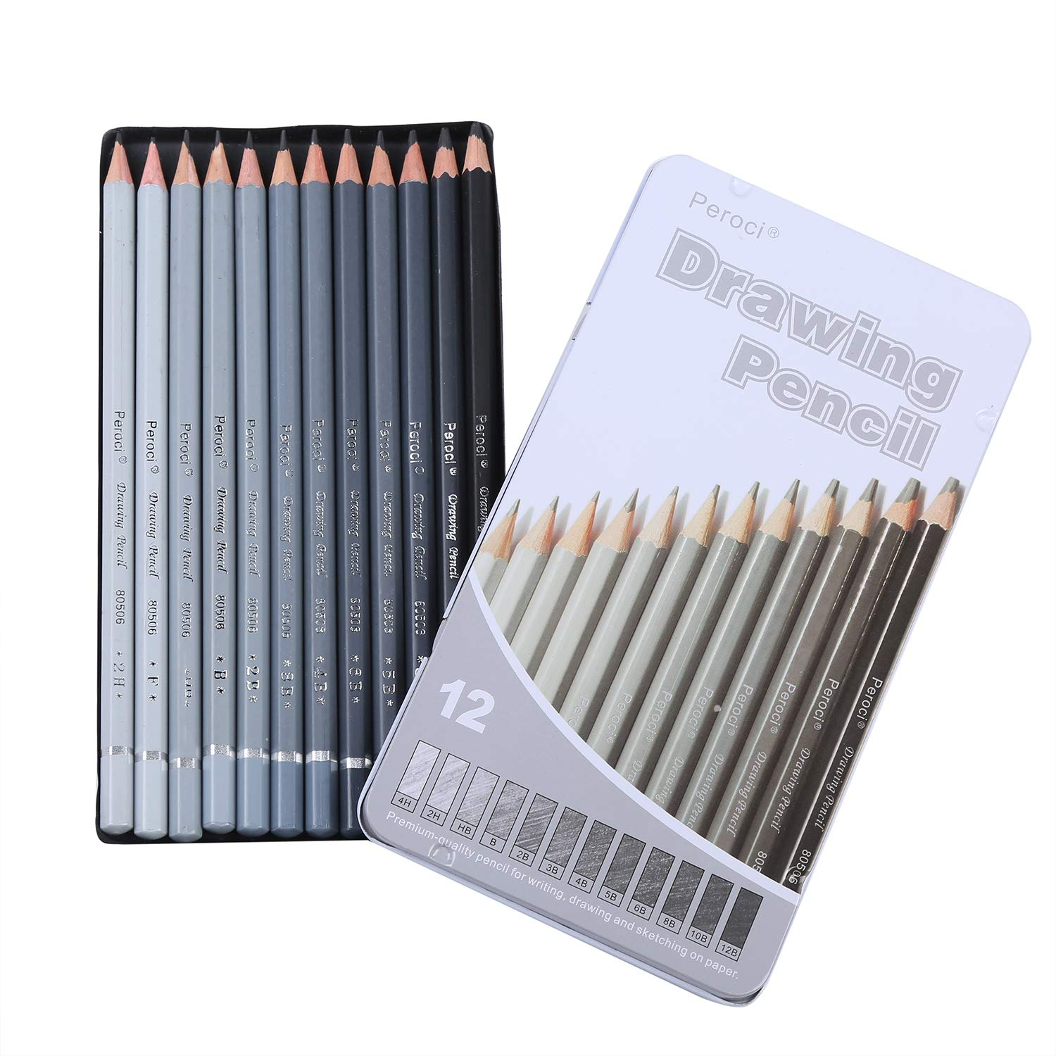 Amazon com professional sketching pencils set 12 pieces drawing