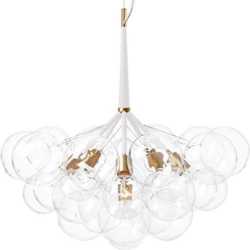 60W Artistic Modern Chandeliers Chandelier Pendant with 6 Lights in 20 Glass Bubble Design Modern Home Ceiling Light Fixture Flush Mount Pendant Light Chandeliers Lighting Bulbs Not Included