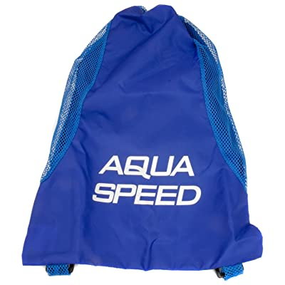 Aqua Speed Bader langer Badetasche poche en maille Palmes Sac Plage Sac à dos Mesh
