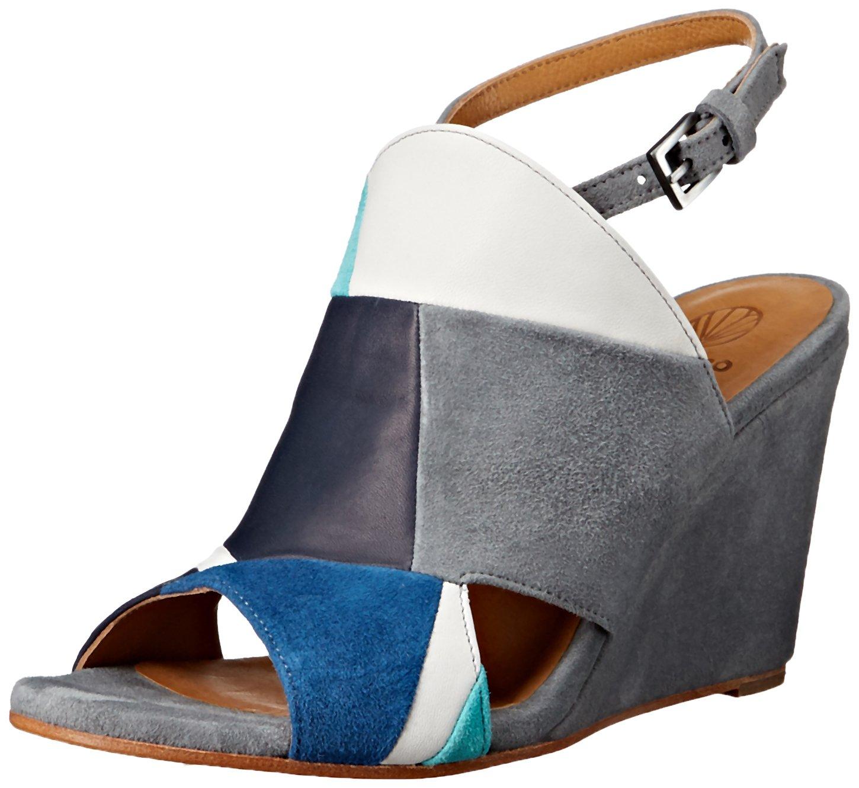 Coclico Women's Jordy Wedge Sandal B01MQ4EP92 37.5 EU/7 - 7.5 M US|Navy