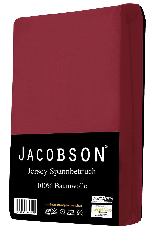 Jersey Spannbettlaken Spannbetttuch f/ür WASSERBETT BOXSPRINGBETT von Jacobson 140 x 200 cm - 160 x 220 cm, Pink