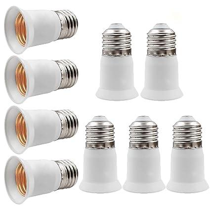 online store 7c609 2576b E26 to E26 Light Socket Extender, E26/E27 to E26/E27 Lamp Bulb Socket  Extension, Edison Screw Converter Lamp Holder Adapter, Fits LED/CFL Light  Bulbs, ...