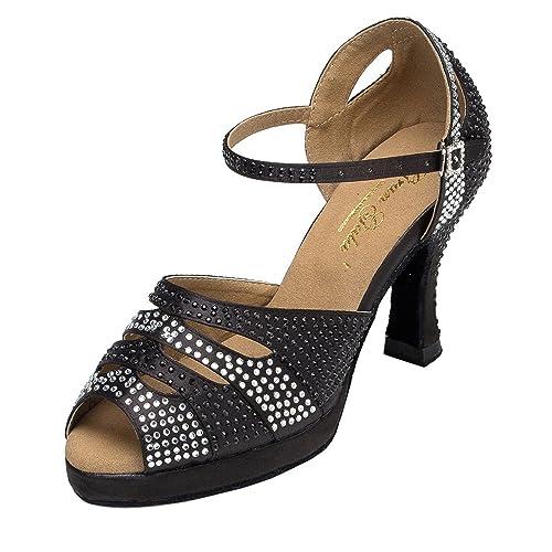 Minitoo - zapatillas de danza Mujer , color Negro, talla 35