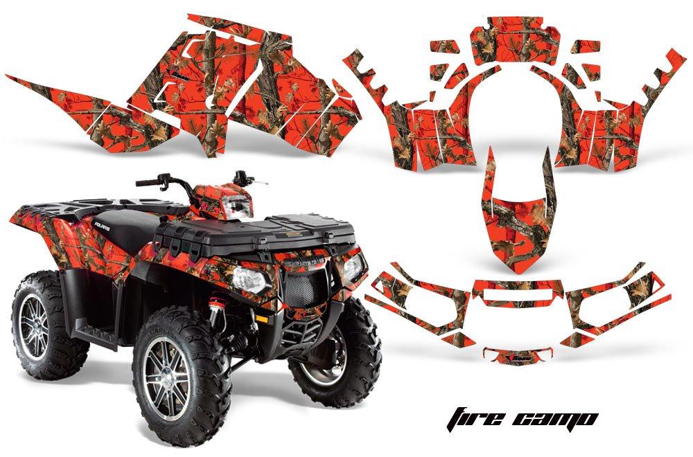 AMR Racing Graphicsキットfor ATV Polaris Sportsman 850 / 850sp / 1000 2013 – 2016 Fire Camo   B079B3LCD7