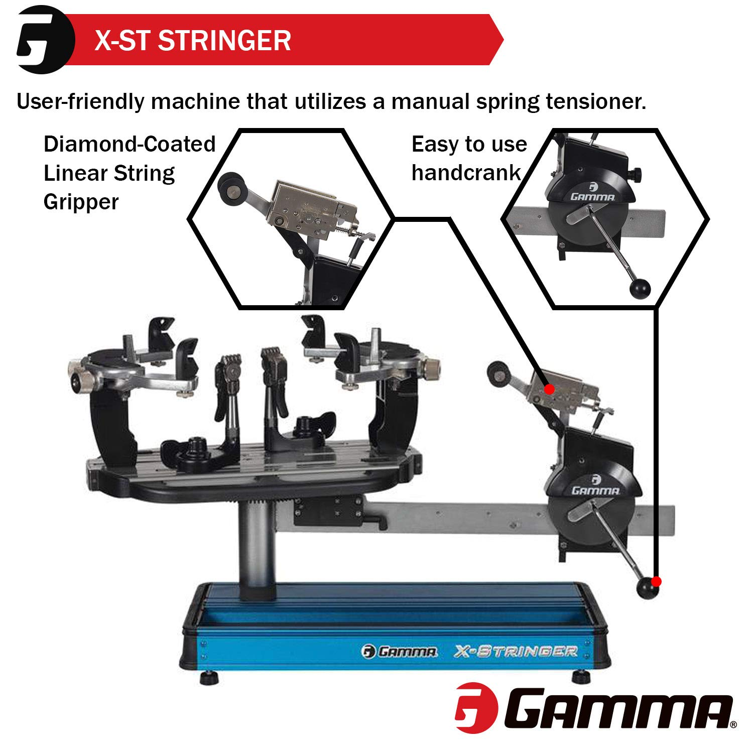Tennis Stringing Machine >> Gamma X St Racquet Stringing Machine X Stringer X St Tennis String Machine With Stringing Tools And Accessories Tennis Squash And Badminton Racket