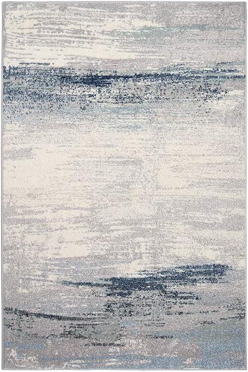 CARPET Polipropileno Simple Abstracto Gris Azul Moderno Estilo ...