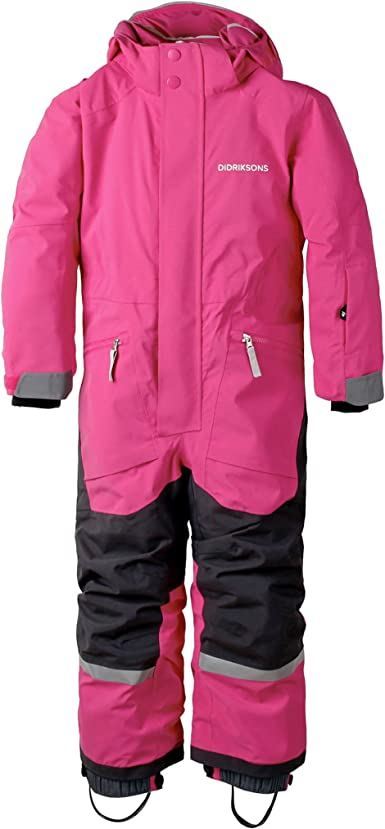 Plastic Pink Didriksons Aslan Kids Snowsuit