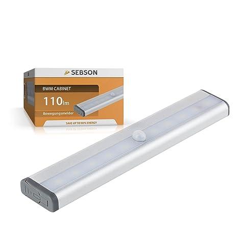 SEBSON® LED sottopensile batteria, sensore movimento ...