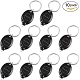 10 Pack Mini LED Keychain Flashlight, Ultra Bright Key Ring Light Torch, Batteries Included