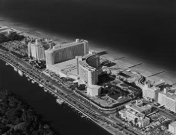 Amazon Com 1950s 1960s Aerial View Fontainebleau Hotel Miami Beach