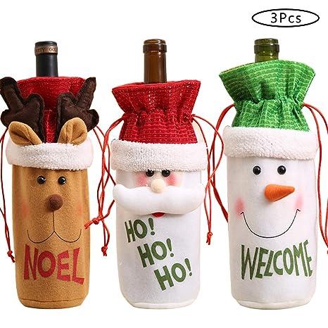 Amazon.com: Funda para botella de vino de Navidad, feo gorro ...