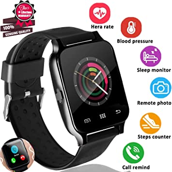 80bdd658062d 2019 New Upgrade Smart Watch Phone Fitness Tracker with Heart Rate Blood  Pressure Monitor for Men
