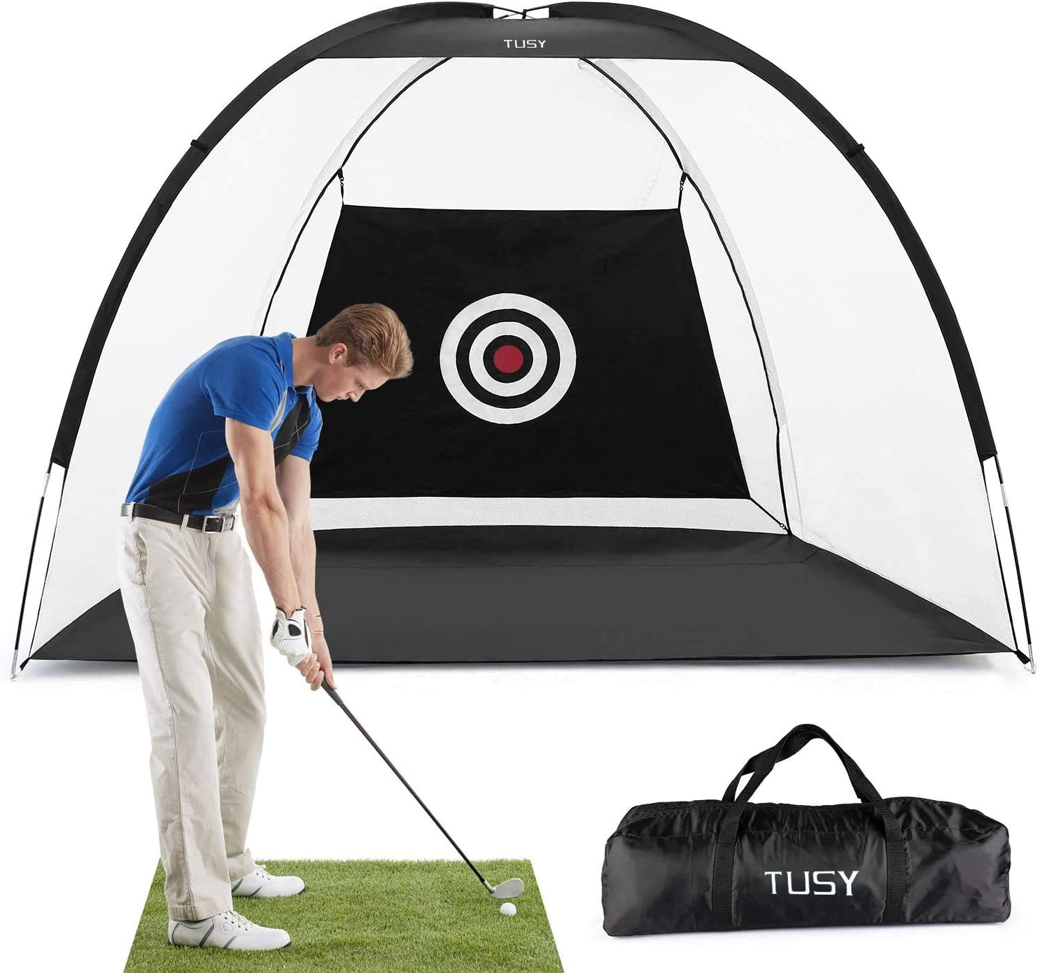 Amazon.com : TUSY Golf Net Golf Hitting Nets Training Aids Practice Nets  for Backyard Driving Range Chipping Practice with Target Sheet Carry Bag  for Indoor & Outdoor Sports : Sports & Outdoors