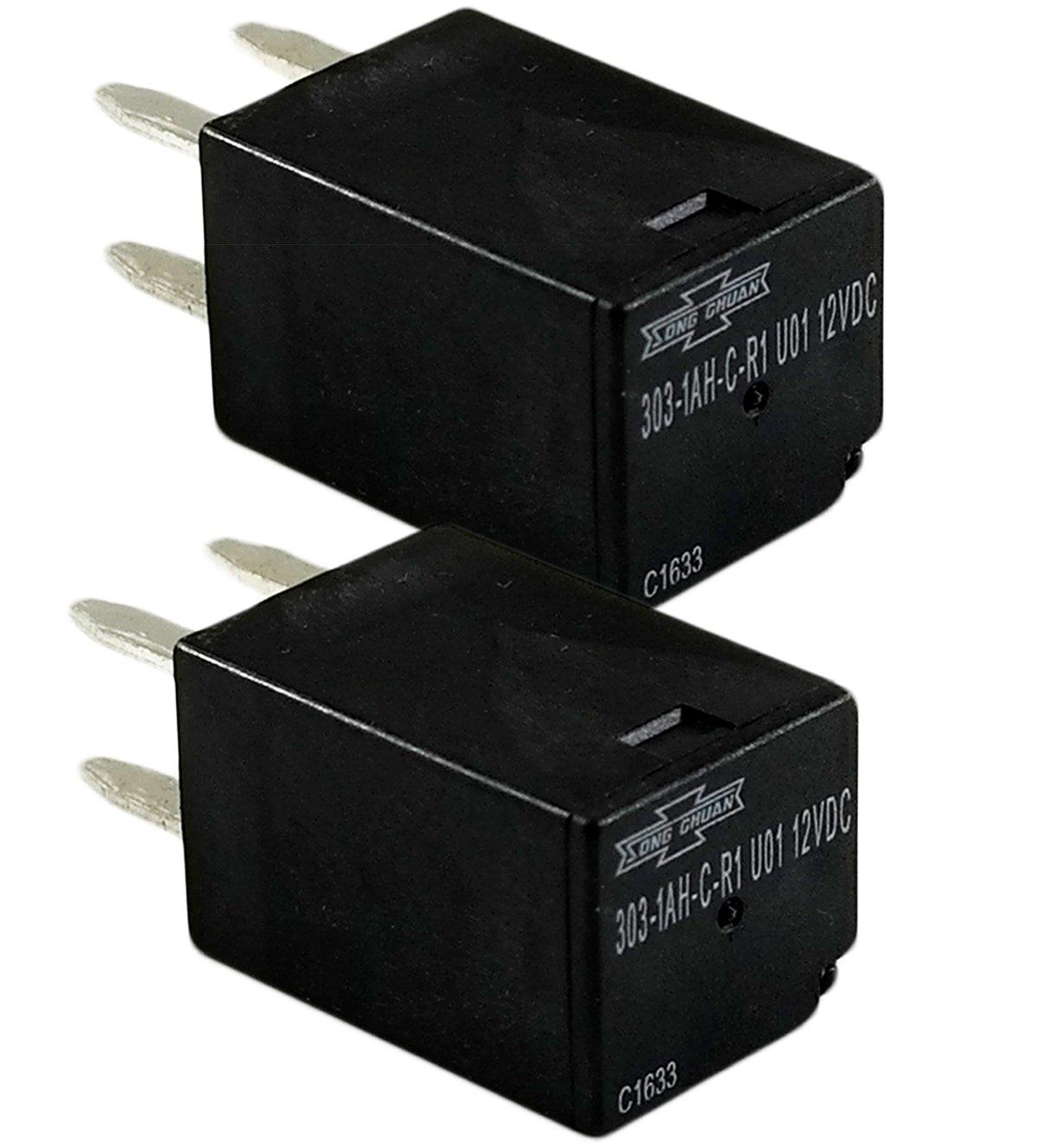 Song Chuan General Purpose Relays 303-1AH-C-R1-U01-12VDC ( Pack of 2) SPNO 20A 12VDC