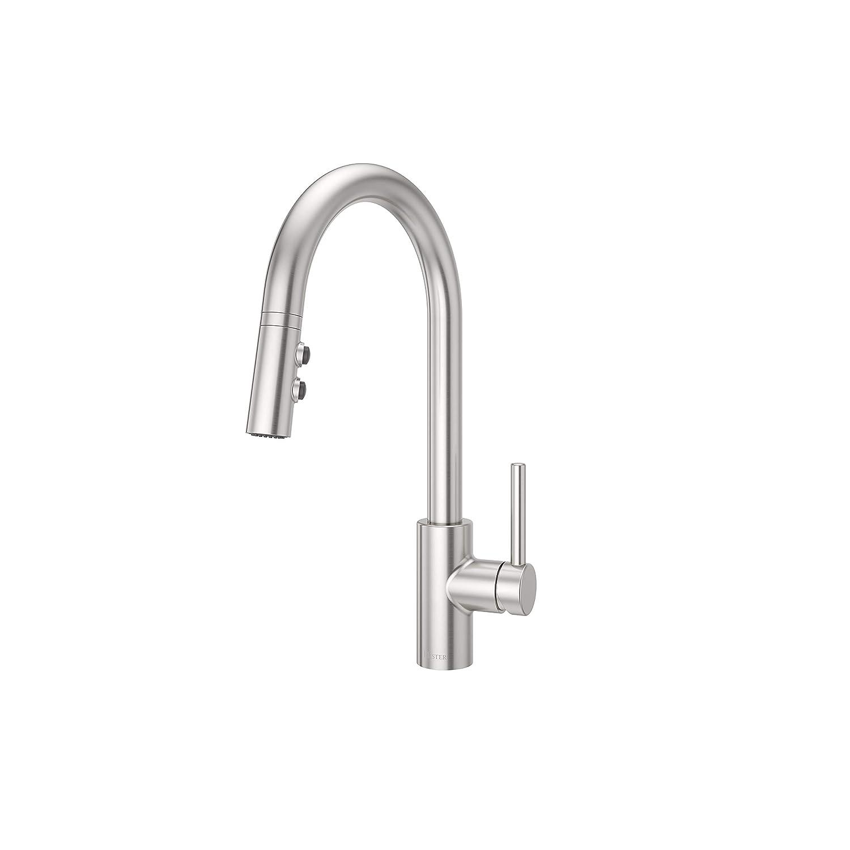 Pfister LG529SAS Stellen 1-Handle Pull Down Kitchen Faucet Stainless Steel