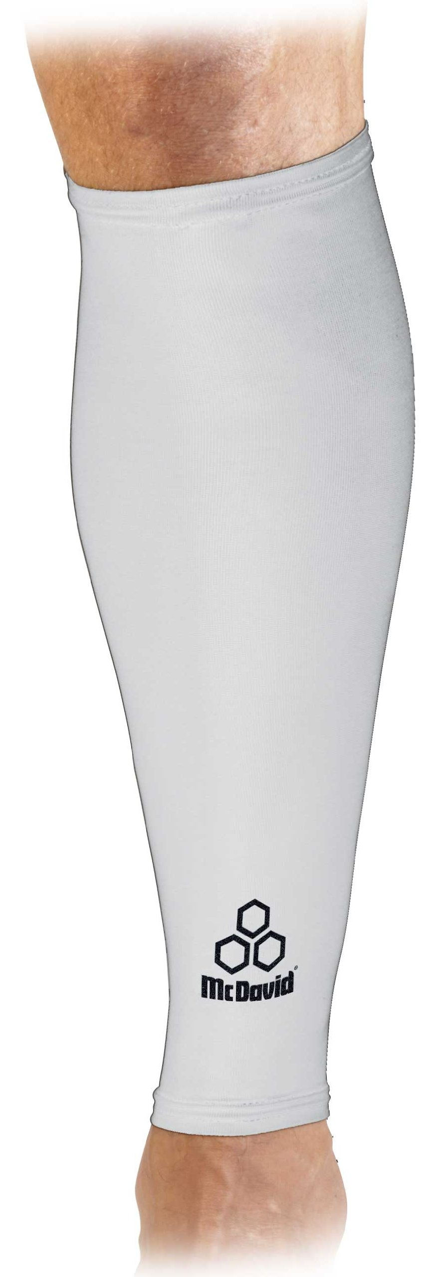 McDavid 6577 True Compression Calf Sleeve (White, Large) by McDavid
