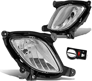 DNA MOTORING FL-ZTL-130-CH FLZTL130CH Pair Fog Lights with Switch [for 10-12 Genesis Coupe],Chrome