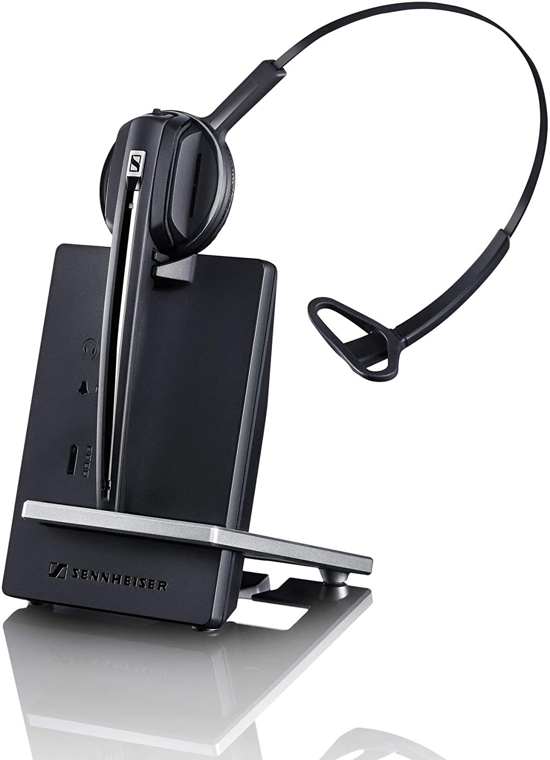 Sennheiser Enterprise SolutionD 10 Phone (506410) Single-Sided Wireless DECT Headset for Direct Desk Phone Connection, with Noise Cancelling Microphone (Black)