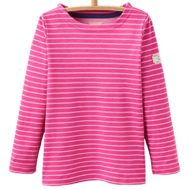 724019feed3 Joules Pink Bon Bon Stripe Junior Marina Top 11/12 Years: Amazon.co ...
