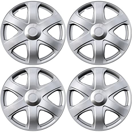 Amazon.com: Hubcaps for Toyota Matrix (Pack of 4) Wheel Covers - 16 Inch, 6 Spoke, Snap On, Silver: Automotive