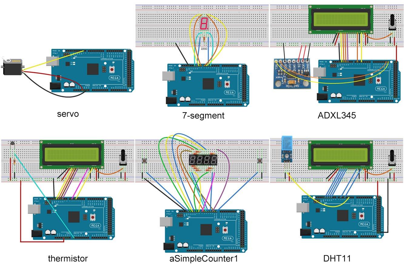Uctronics Mega 2560 Complete Ultimate Starter Kit For 450 Wiring Diagram Arduino W Tutorial In Tf Card Development Board Lcd1602 Servo Stepper Motor