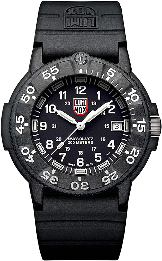 Amazon.com: Luminox The Original Navy Seal Mens Watch Black Display  (XS.3001.F/Navy Seal Series): 200 Meter Water Resistant + Light Weight Case  + Constant Night Visibility: Luminox: Watches