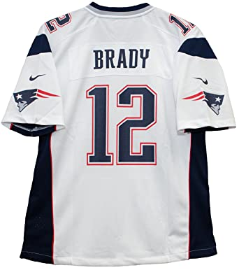 Tom Brady New England Patriots White Nike Game Youth NFL Jersey (Medium) c4da68443