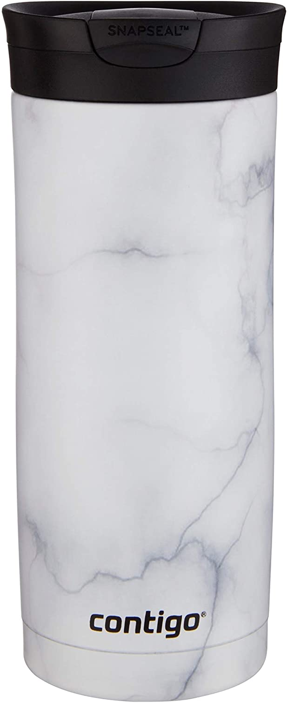 Contigo | Couture SNAPSEAL Vacuum-Insulated Travel Mug, 16 oz, White Marble