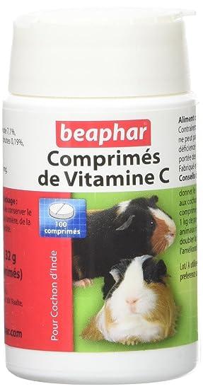Beaphar Vitamina C Tabletas para Cerdos de Guinea - 100 Pastillas: Amazon.es: Productos para mascotas