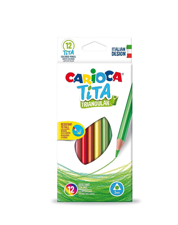 Carioca 42786 Tita Scatola da 12/matite colorate triangolari