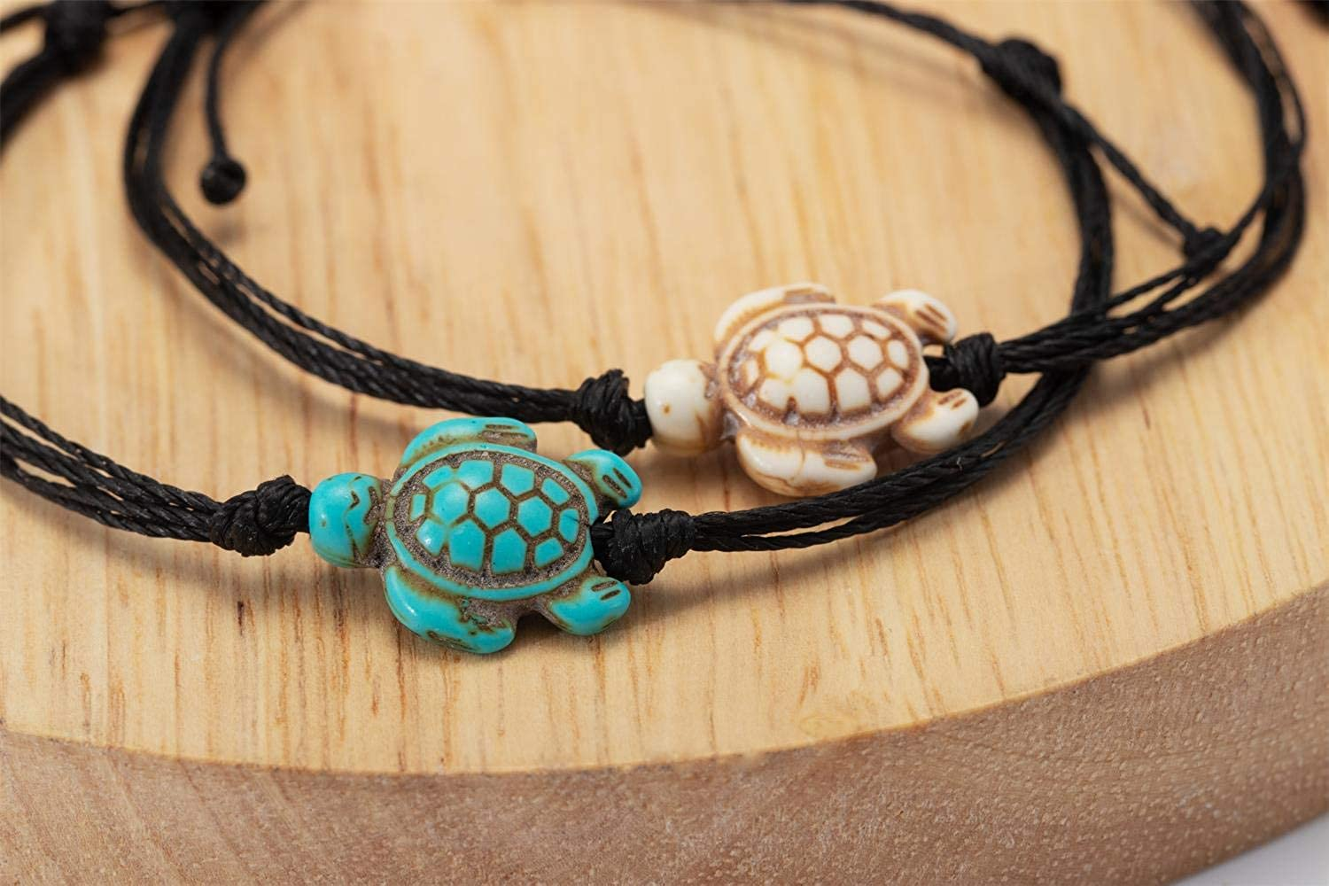 wowshow 2 pcs Sea Turtle Bracelet for Girls Best Friend Relationship Matching Bracelet Gifts