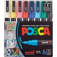 uni-posca Paint Marker Pen - Fine Point - Set of 8 (PC-3M8C), Multicolor