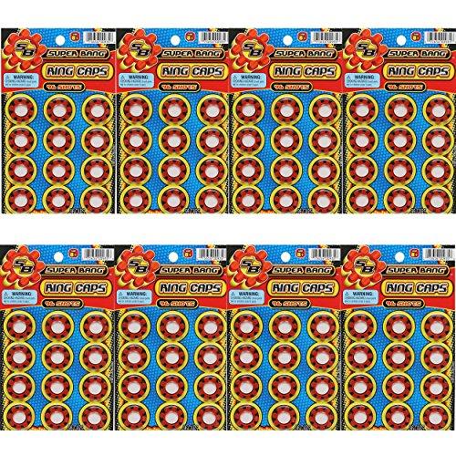 BUNDLE 8-SHOT PLASTIC RING CAPSULES 8 SHEET 768 SHOTS - BEST QUALITY!
