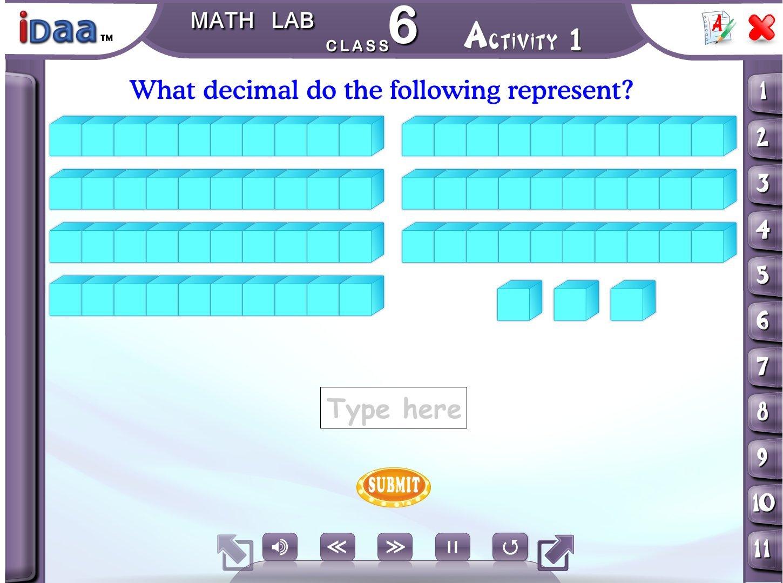 Idaa Class 6 Math Activity Educational CBSE (CD): Amazon.in: Software