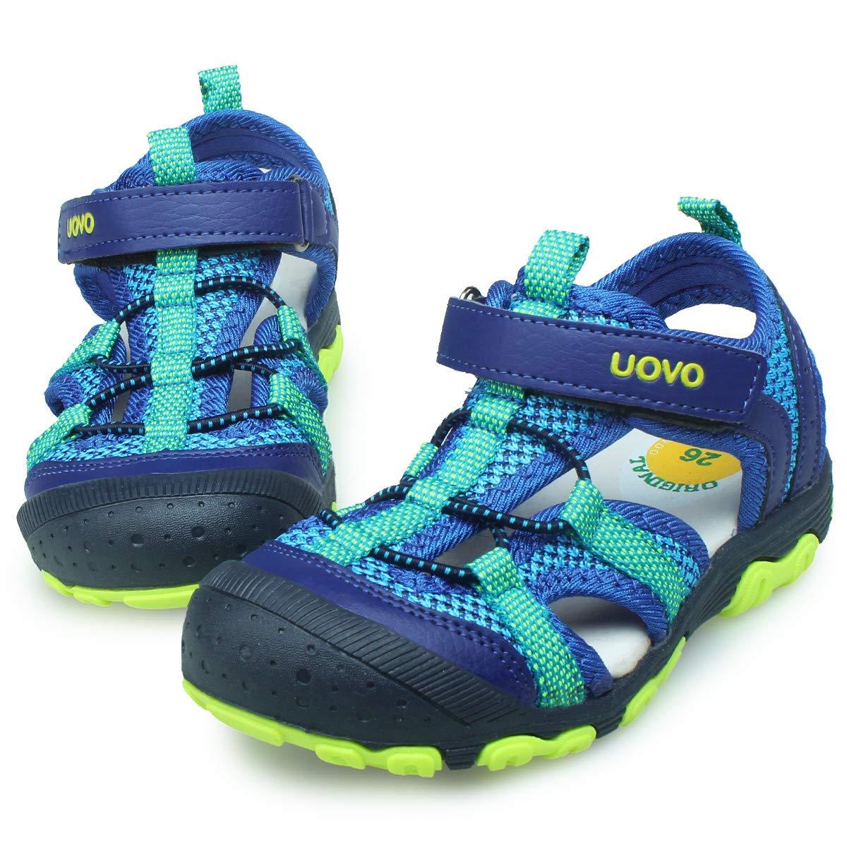UOVO Kids Boys Sandals Toddler Little Boys Closed Toe Athletic Sport Sandals Hiking Outdoor Summer Sandals (3 M US Little Kid, Loyal Blue)