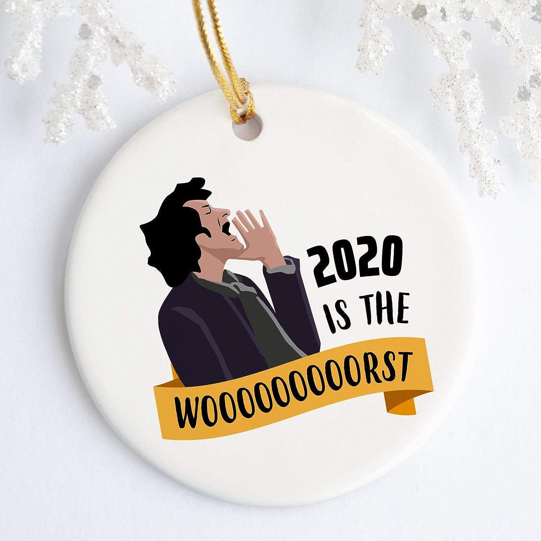 Suchmugs 2020 is The Worst Christmas Ornament, Parks and Rec, Jean Ralphio Ceramic Ornament, Quarantine Ornaments