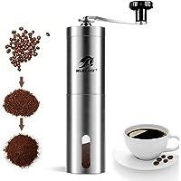 MLMLANT Manuell turkisk kaffekvarn, kök rostfritt stål bönmaskin, justerbar keramisk konisk malning, liten handhållen…