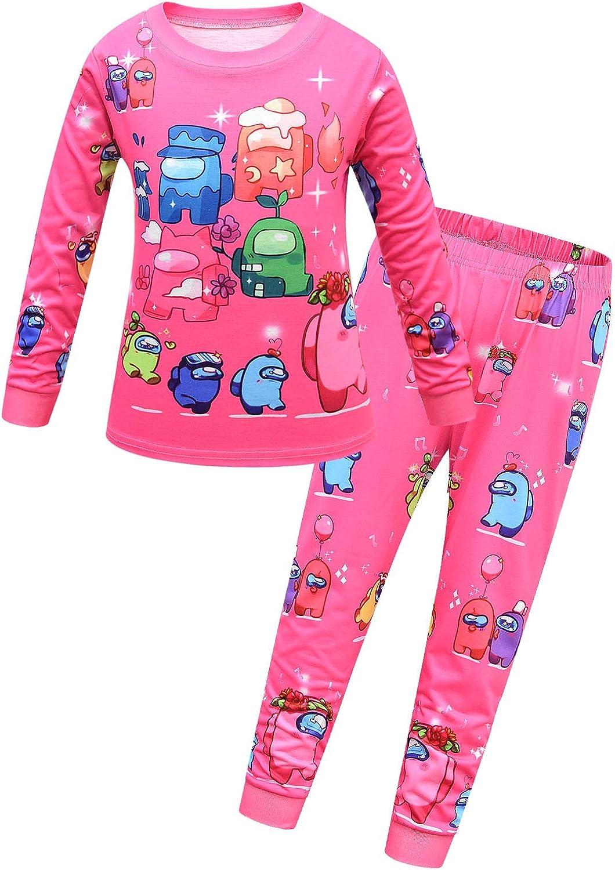 Jimdan Boys Long Sleeve Pants Set Game Role Print Pajamas Set 2-Pieces Tops and Pants