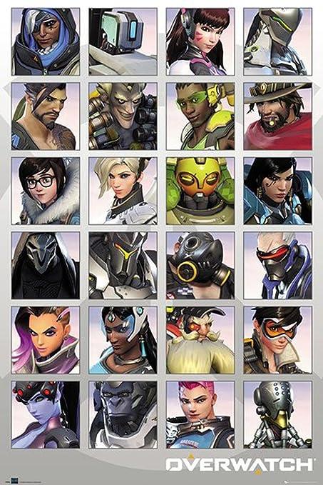 Overwatch Póster Character Portraits/Portaretratos (61cm x 91,5cm) + Embalaje para