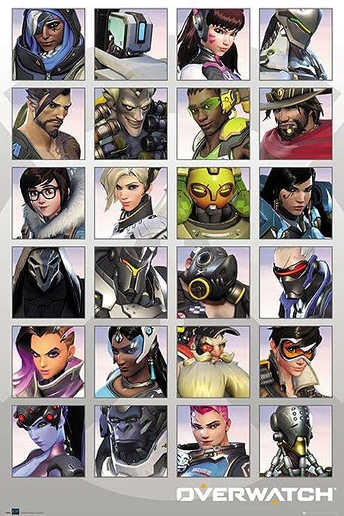 Póster Overwatch - Character Portraits/ Portaretratos (61cm x 91,5cm)