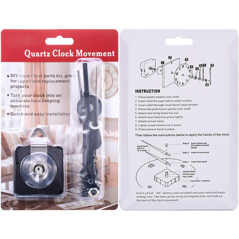 Remplacement Quartz Long Arbre Horloge mouvement mécanisme 23 mm avec de longues mains Set