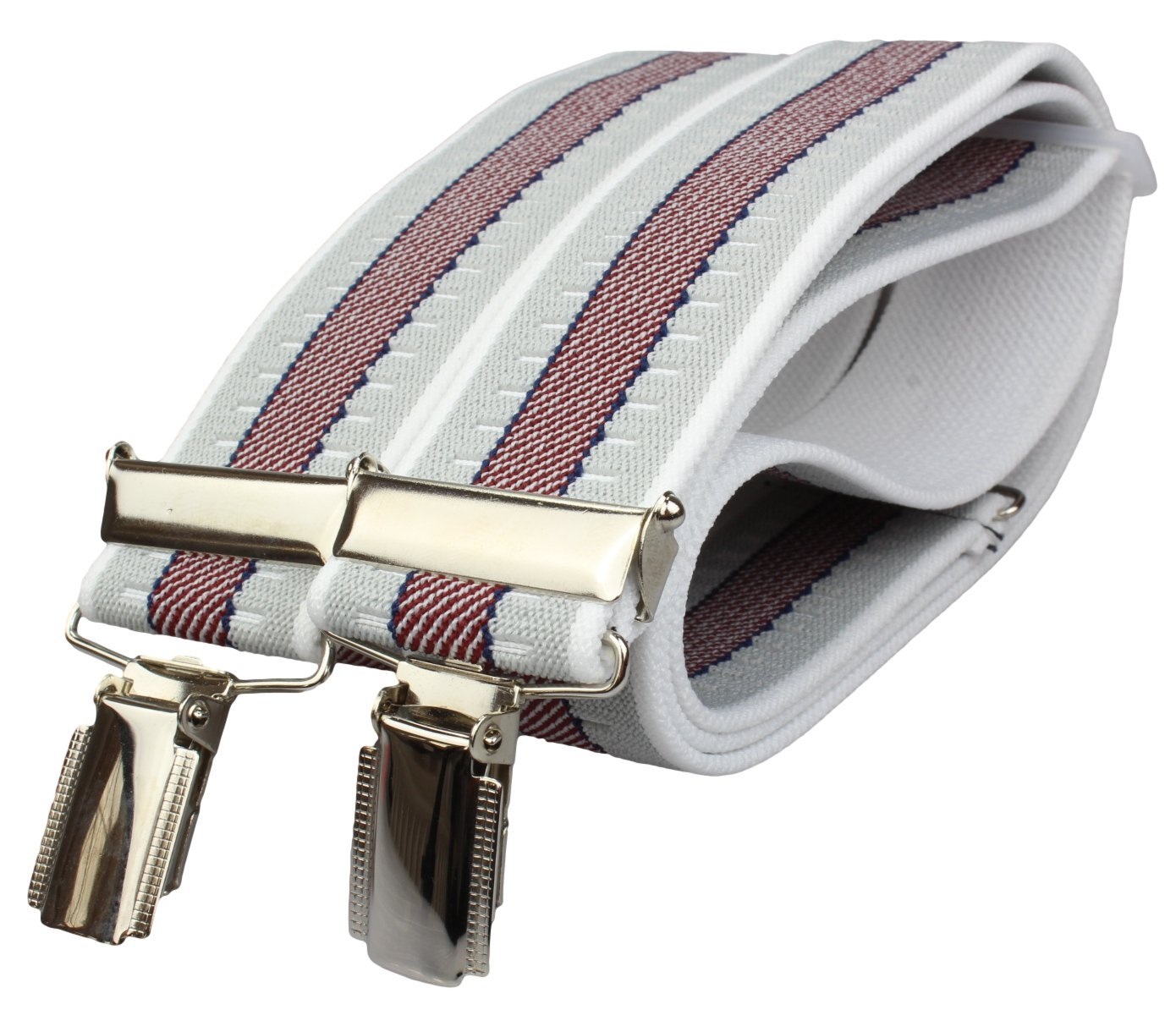 Trouser Braces Suspenders extra strong with 4 Clips | 35mm wide | 19 colours | black, plain, stripes, neon and many more ht_br