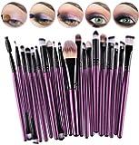 CINEEN Set da 20 Pennelli Professionali per Make-up, tra cui Pennello per Ombretto, Pennello per Fard, Pennello per Correttore, Pennello per Labbra, Pennello per Sopracciglia