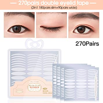 Yousha 270pairs Invisible Fiber Double Eyelid Tape Stickers, Instant Eye  Lift sticker, perfect for Hooded,