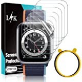 6 Pack LϟK Screen Protector Compatible for Apple Watch Series 6 44mm and Apple Watch SE 44mm Flexible TPU HD Clear with…
